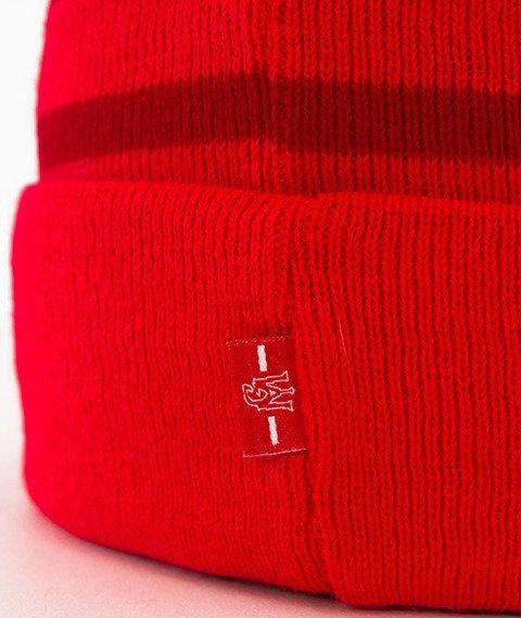 Ganja Mafia-GM Stripes Czapka Zimowa Red/White
