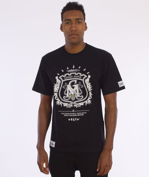 Ganja Mafia-Herb T-Shirt Czarny/Biały