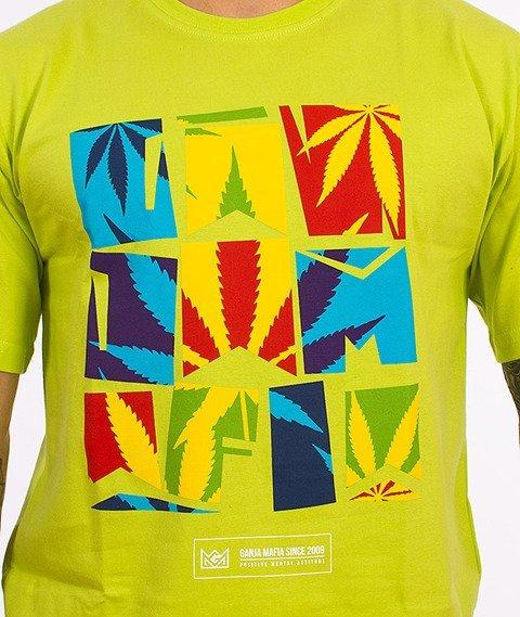 Ganja Mafia-Summer T-Shirt Jaskrawy Zielony