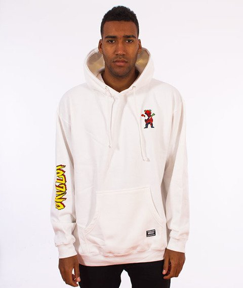Grizzly-Spiderman Hoodie White