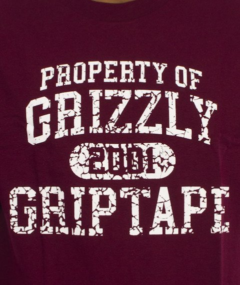 Grizzly-Vintage Property T-Shirt Burgundy
