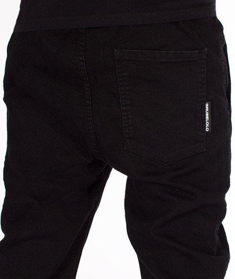 Grube Lolo-Spodnie Materiałowe Czarne bez Logo