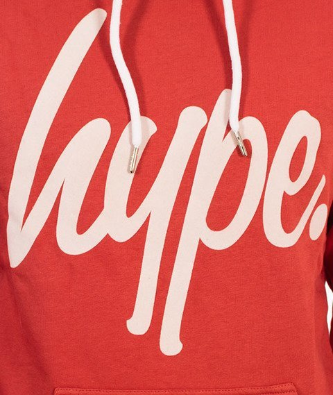 Hype-Flock Script Bluza Kaptur Cedar/White