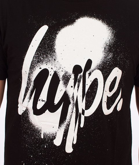 Hype-Spray Script T-Shirt Czarny