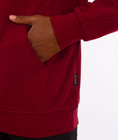 IAM. CLOTHES-Great Bluza Z Kapturem Bordowa
