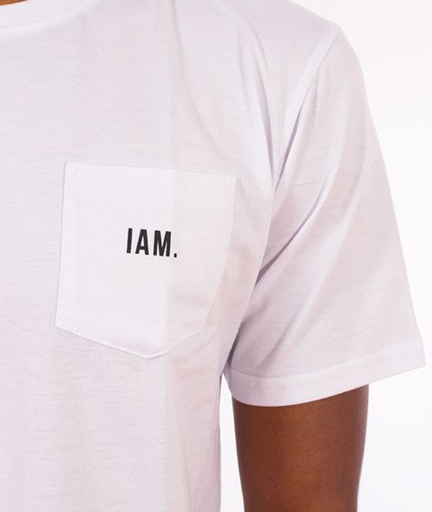 IAM. CLOTHES-Pocket T-shirt Biały