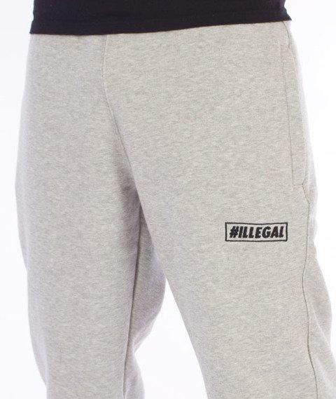 Illegal-Big Spodnie Dresowe Szare