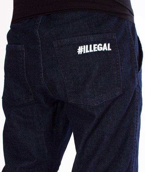 Illegal-Illegal Jogger Slim Guma Pocket Spodnie Dark Blue