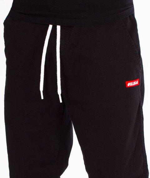 Illegal-Illegal Jogger Slim Guma Small Red Spodnie Czarne