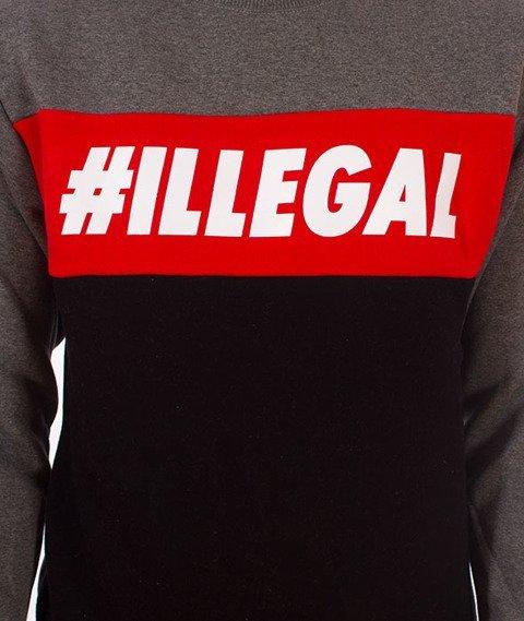 Illegal-Illegal Red Bluza Czarna/Grafitowa
