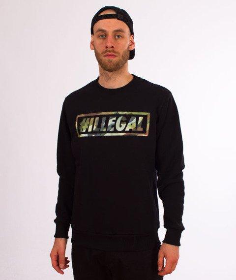 Illegal-Klasyk Bluza Czarna/Moro