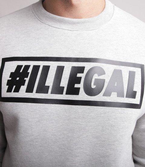 Illegal-Klasyk Bluza Jasny Szary