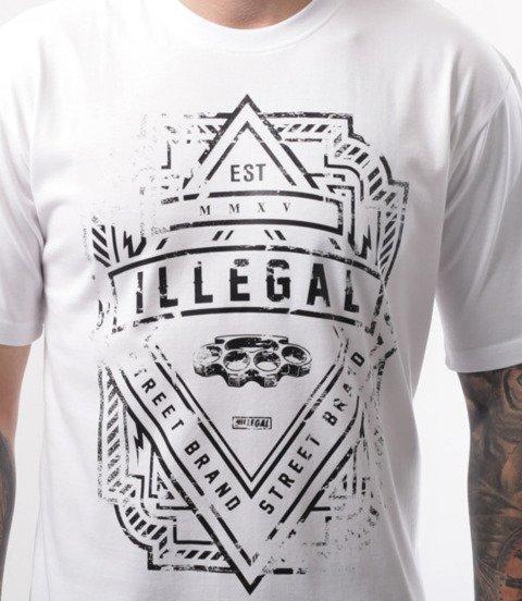 Illegal-Logo T-Shirt Biały