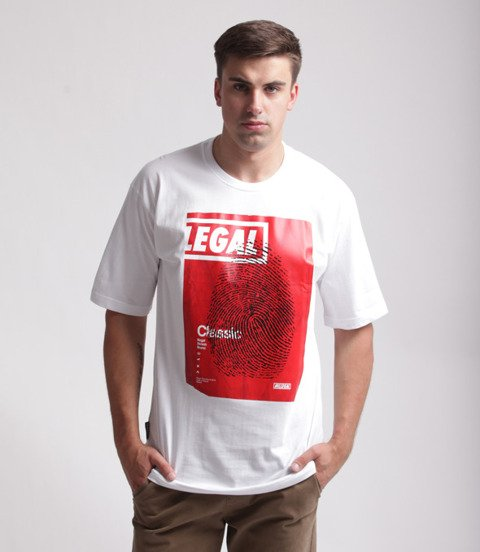 Illegal-Odcisk Red T-Shirt Biały