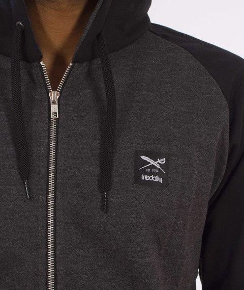 Iriedaily-De College Zip Hood Bluza Kaptur Rozpinana Black