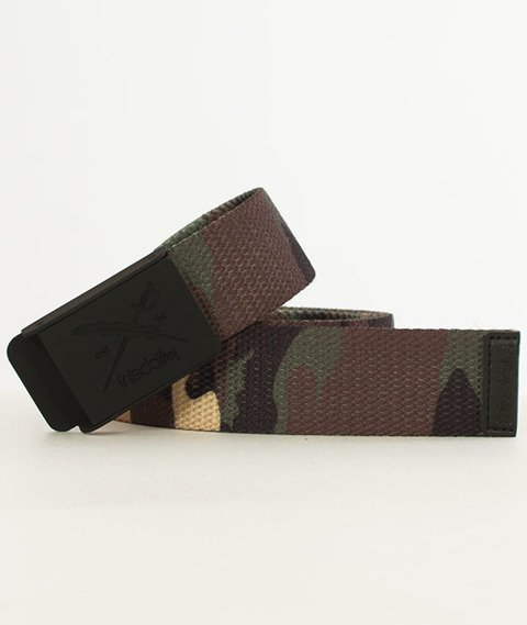 Iriedaily-Flag Rubber Belt Pasek Camou Olive