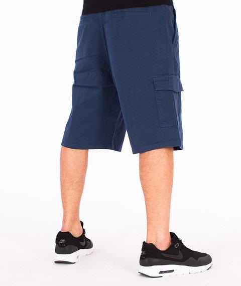 JWP-Cargo Spodnie Krótkie Granatowe