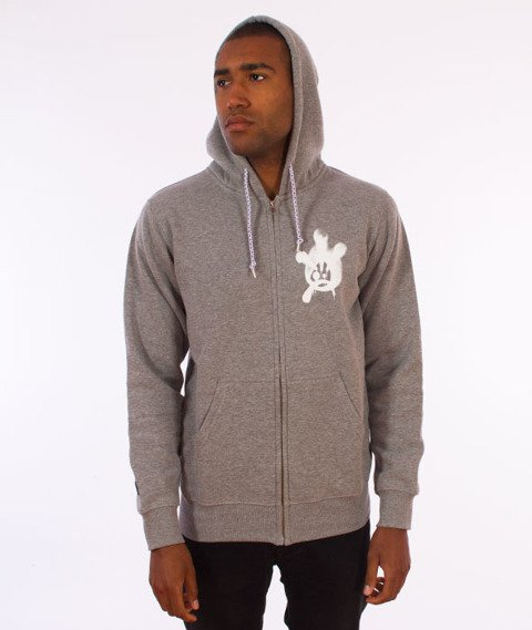 JWP-ZIP NY Hoody Fat Boy Kaptur ZIP Szary