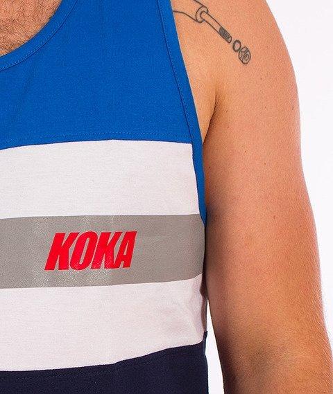 Koka-Stripes Tank-Top Niebieski/Biały/Granatowy