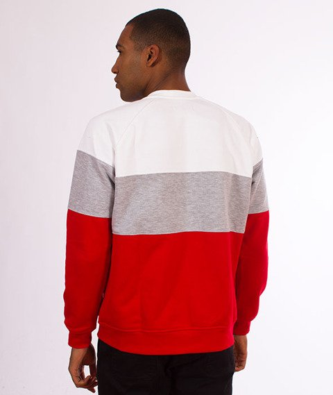 Lucky Dice-3 Panels Crewneck Bluza Red