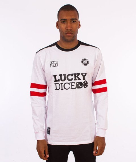 Lucky Dice-College 7 Longsleeve Biały/Biały