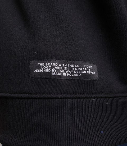 Lucky Dice College Bluza bez kaptura Czarny/Neonowy