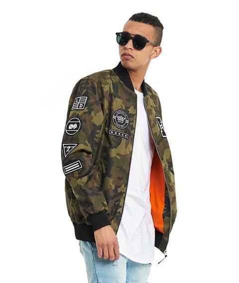 Lucky Dice-Emblems Bomber Jacket Kurtka Camo