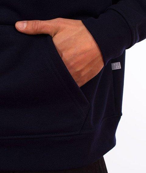 Lucky Dice-Hoodie Logo on Sleeve Bluza Granatowa