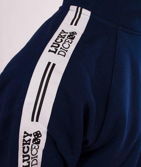 Lucky Dice-Hoodie Tape Logo Bluza Granatowa