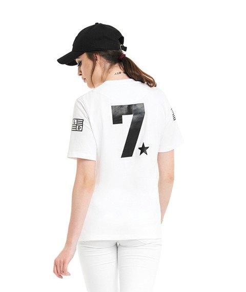 Lucky Dice-LD Seven T-Shirt Damski Biały