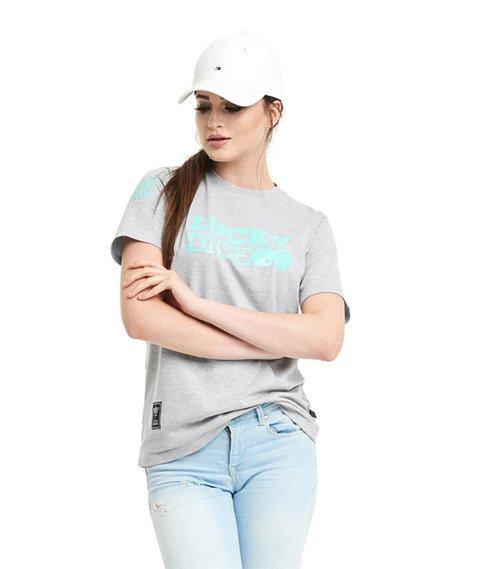 Lucky Dice-LD Seven T-Shirt Damski Szary