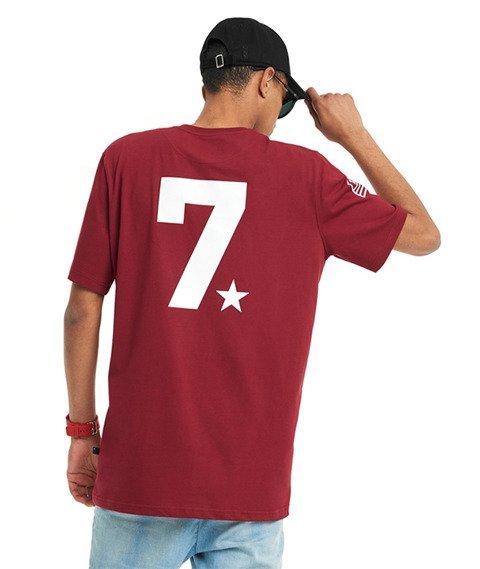 Lucky Dice-LD Seven T-shirt Bordowy