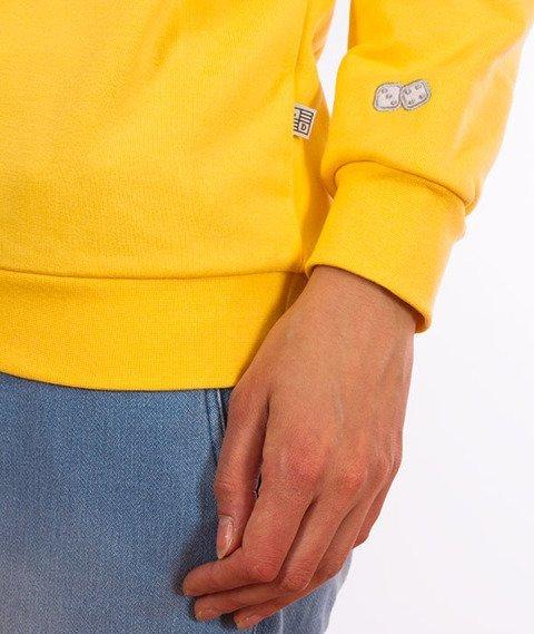 Lucky Dice-Logo Bluza Damska Żółta