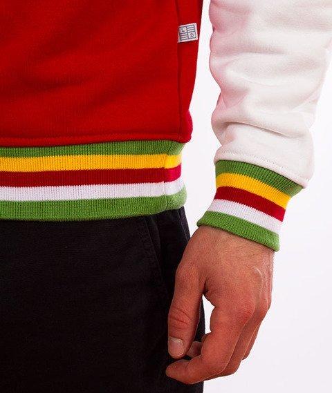 Lucky Dice-Logo Colour Crewneck Bluza Czerwona