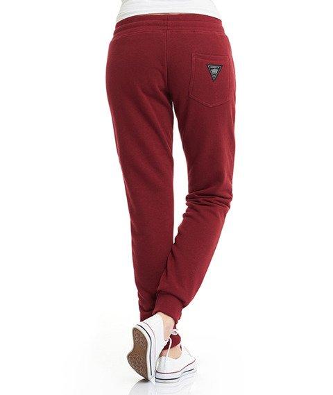 Lucky Dice-SP College Sweatpants Spodnie Dresowe Damskie Bordowe