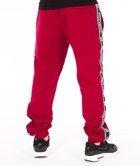 Lucky Dice-SP Tape LD Sweatpants Spodnie Dresowe Bordowe