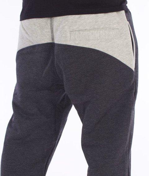 Lucky Dice-Slant Sweatpants Spodnie Dresowe Grafitowe