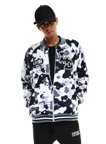 Lucky Dice-Slippery Zip LD Bluza White Camo