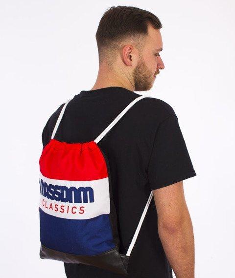 MASS-Classic Cut Gym Bag Worek Czerwony/Biały/Niebieski