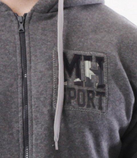 METODA -MH Sport Bluza Zip Szara