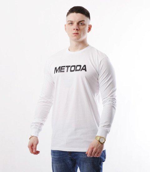 METODA -Name Longsleeve Biały