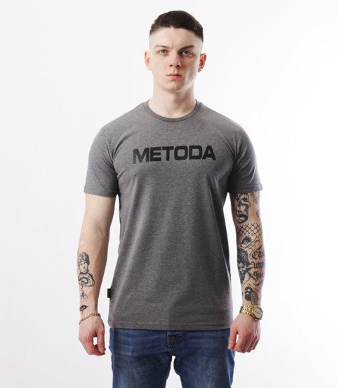 METODA -Name T-Shirt Szary