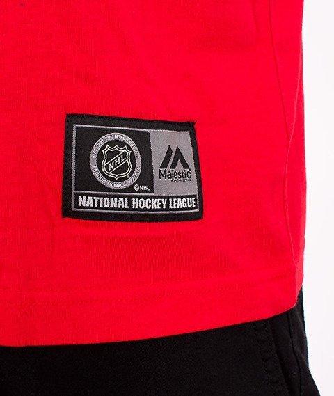 Majestic-Chicago Black Hawks T-shirt Red