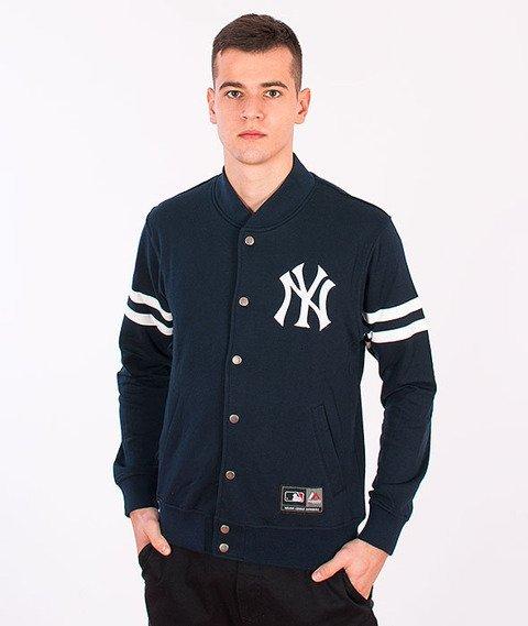 Majestic-New York Yankees Roper Fleece Letterman Navy