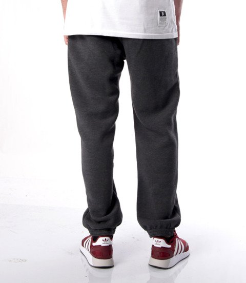 Mass BASE Spodnie Dresowe Regular Fit Grafitowy
