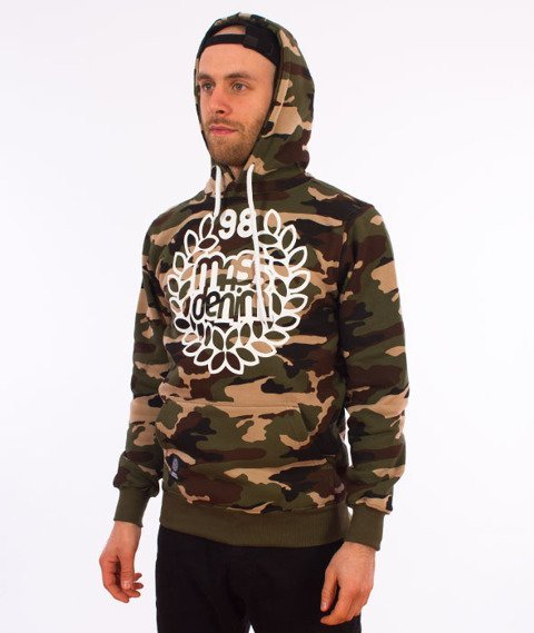 Mass-Base Bluza Kaptur Woodland Camo