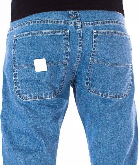 Mass-Base Jogger Jeans Sneaker Fit Spodnie Light Blue