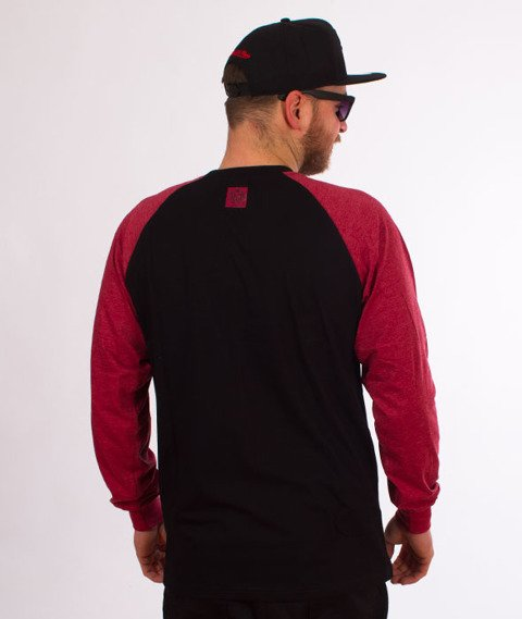 Mass-Base Raglan Longsleeve Black/Claret