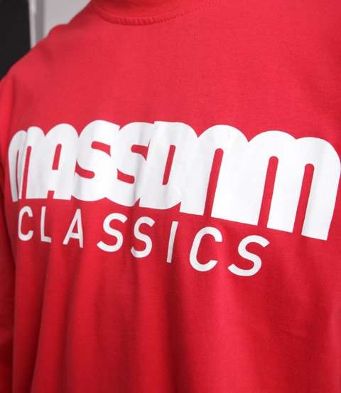 Mass CLASSICS Longsleeve Czerwony