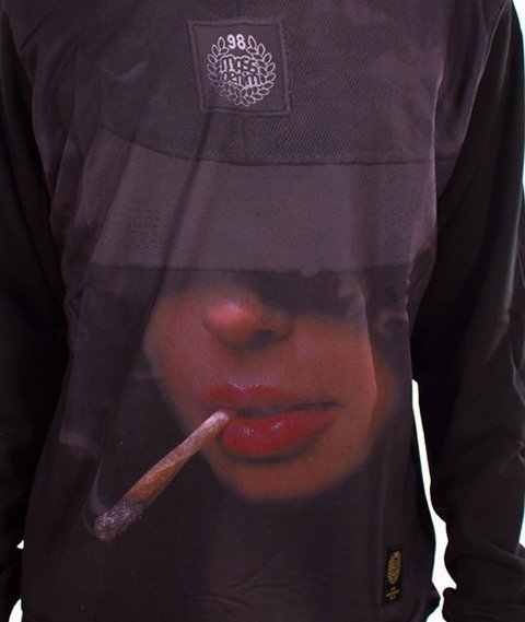 Mass-Chill Girl Crewneck Bluza Czarna/Multikolor